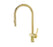 VOS Brushed Brass Single Lever Pull Out Sink Mixer, HP1
