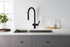 VOS Matt Black Single Lever Sink Mixer, PULL OUT HP1