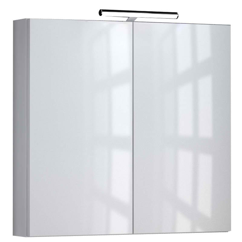 Just Taps Mirror Cabinet White Front View