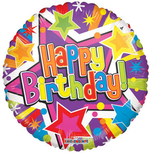 Happy Birthday Stars Balloon Balloonssend_delivery_Amman_Jordan