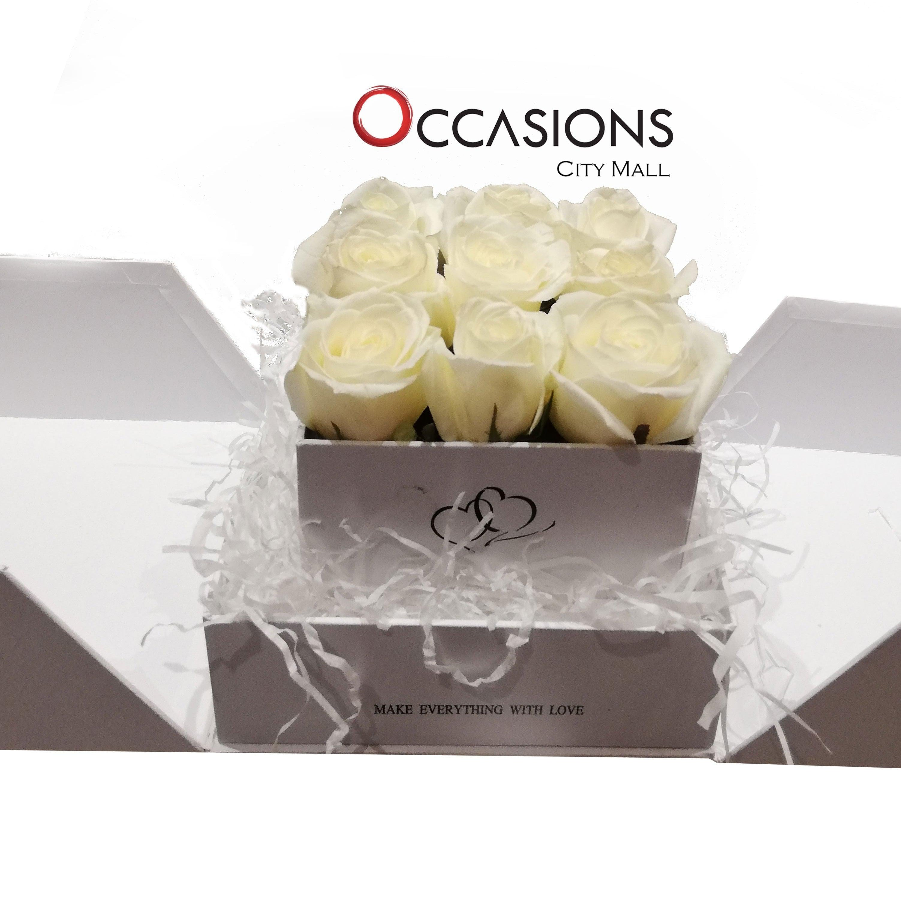 Make EveryThing With Love -White Roses Flowerssend_delivery_Amman_Jordan