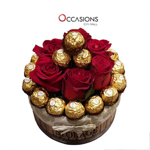 Rounded Roses & Chocolate Romance Flowerssend_delivery_Amman_Jordan