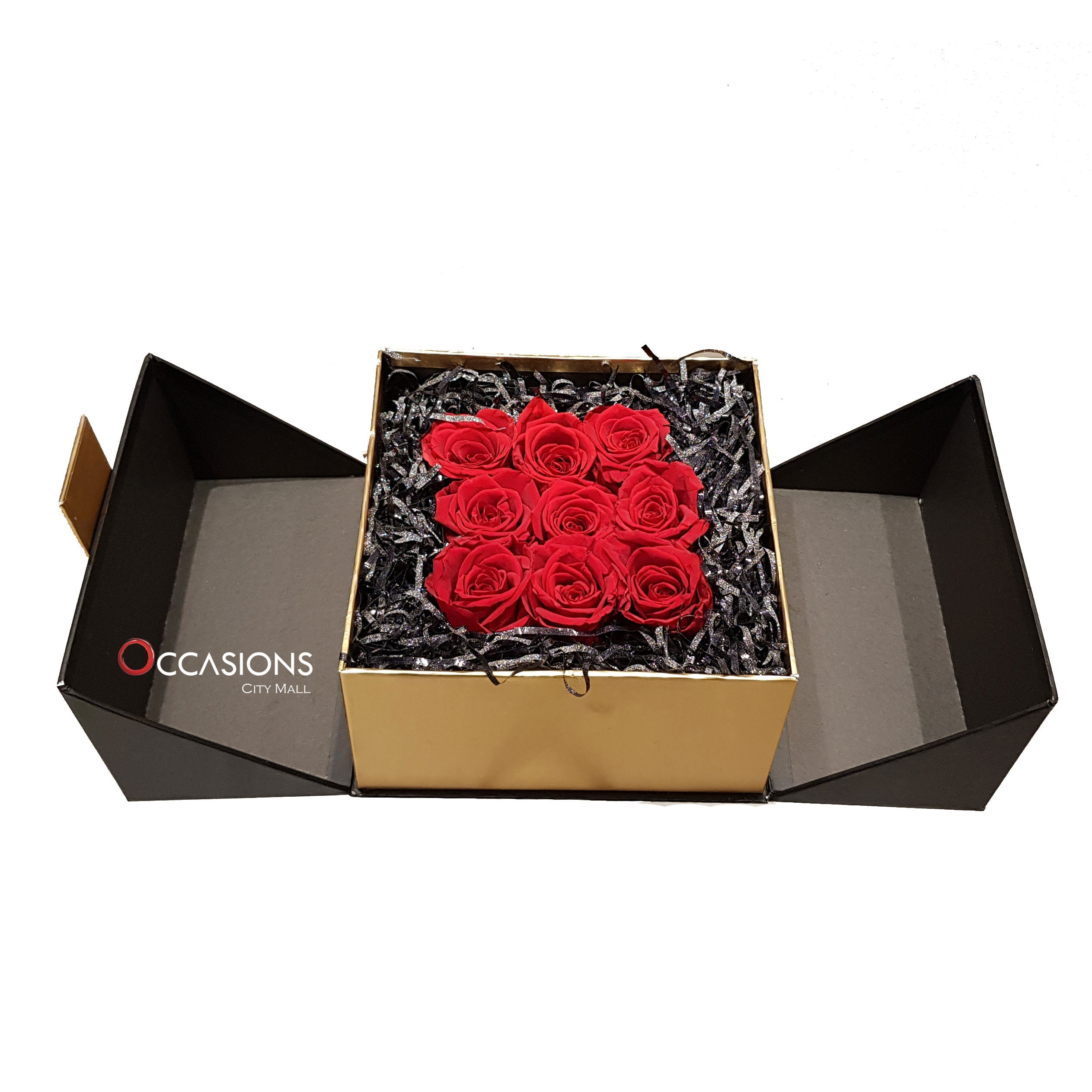 With Love Roses in Black Flowerssend_delivery_Amman_Jordan