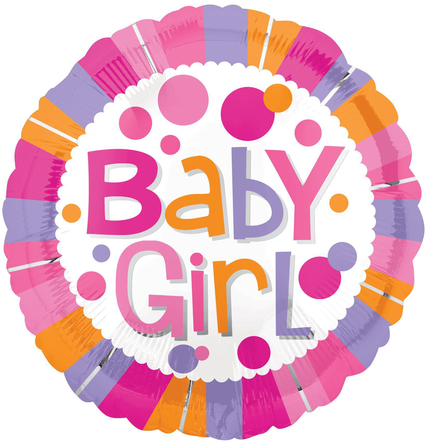 Baby Girl Stripes Balloon Balloonssend_delivery_Amman_Jordan