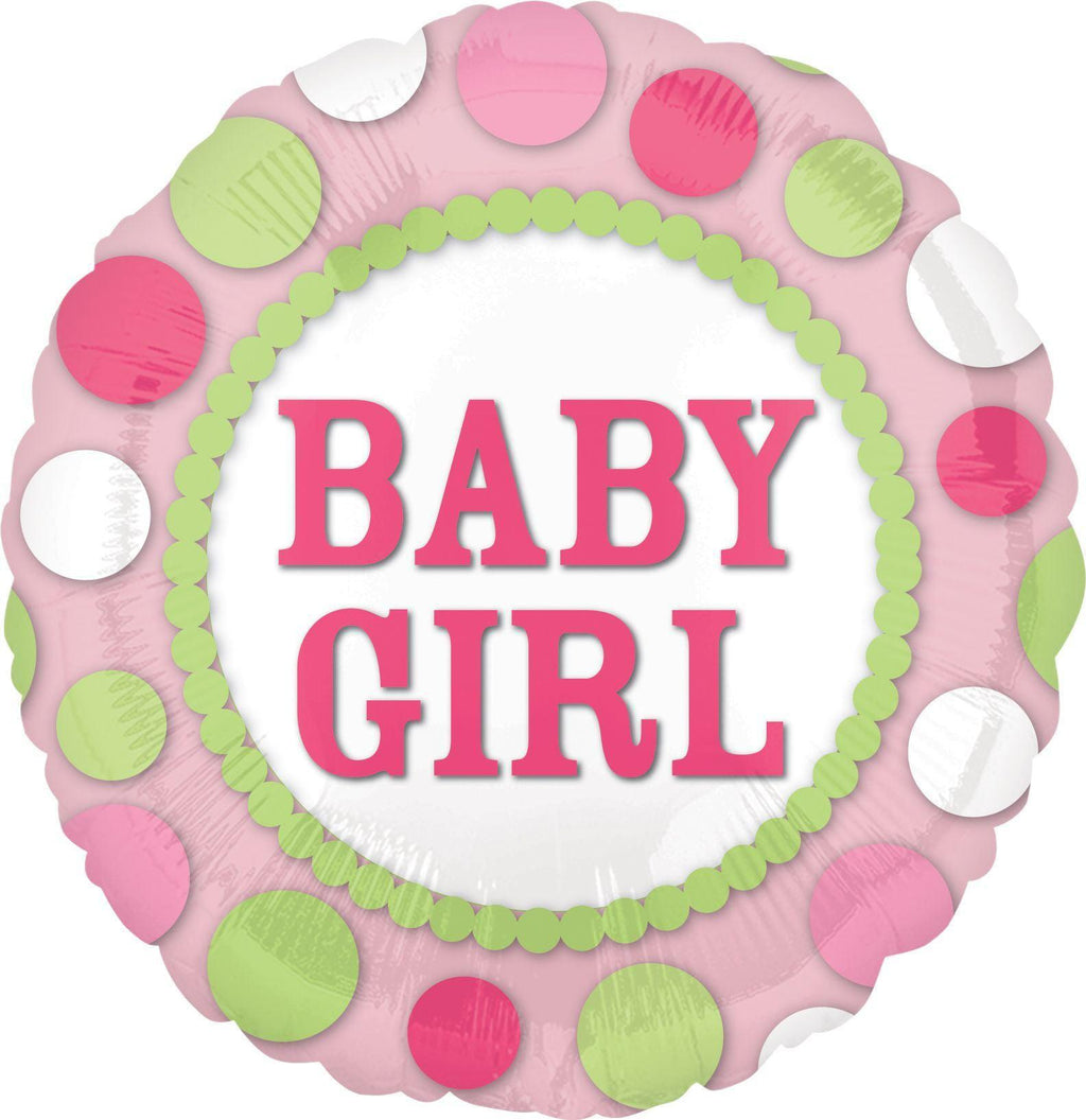 Baby Girl Dots Balloon Balloonssend_delivery_Amman_Jordan