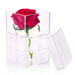 Single Rose in Acrylic box - gift-on-line