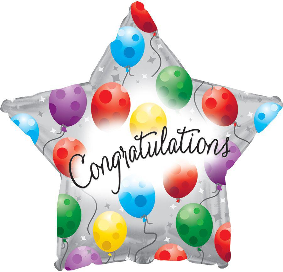Congratulations Star Balloon - gift-on-line