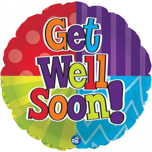 Get Well Soon Circle Balloon Balloonssend_delivery_Amman_Jordan