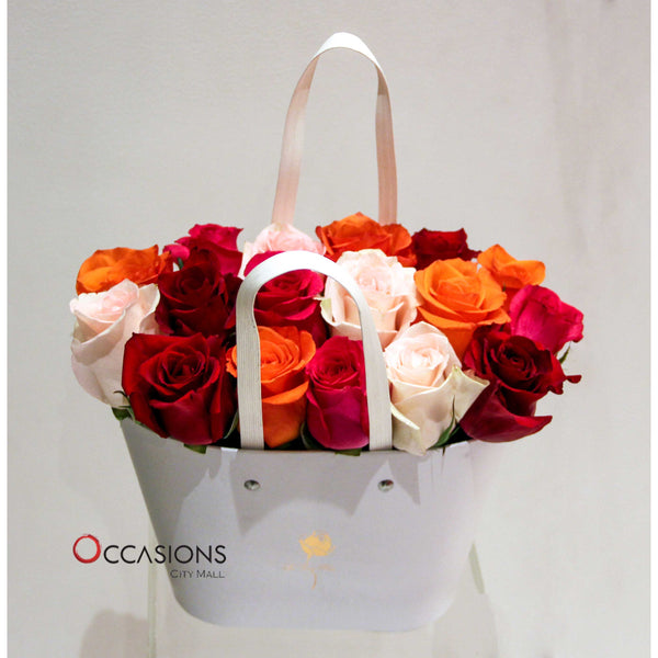 Fresh Roses Basket