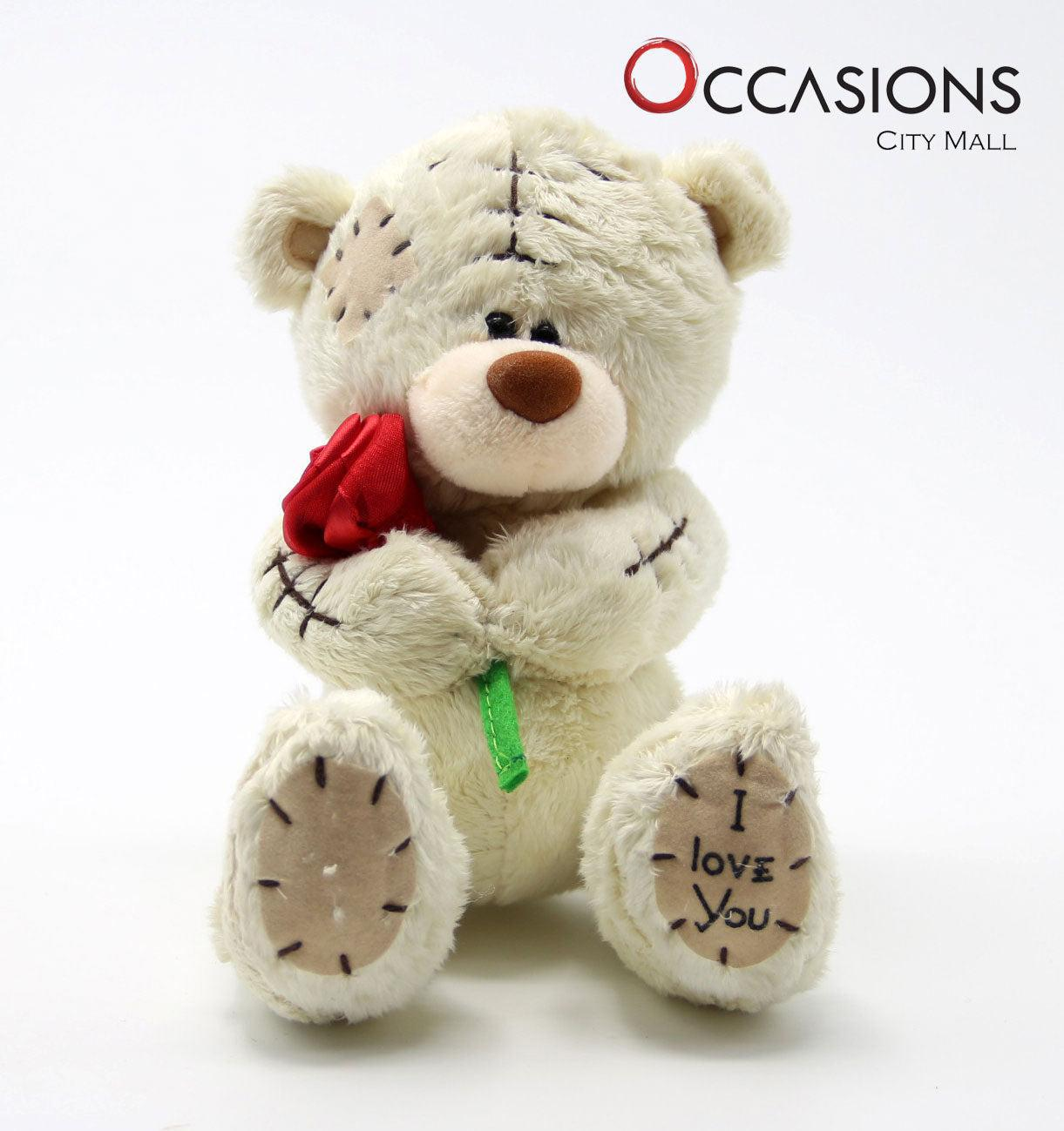 Teddy with Rose Teddy Bearsend_delivery_Amman_Jordan