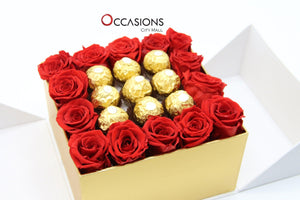 With Love Roses - Roses & Ferrero Flowerssend_delivery_Amman_Jordan