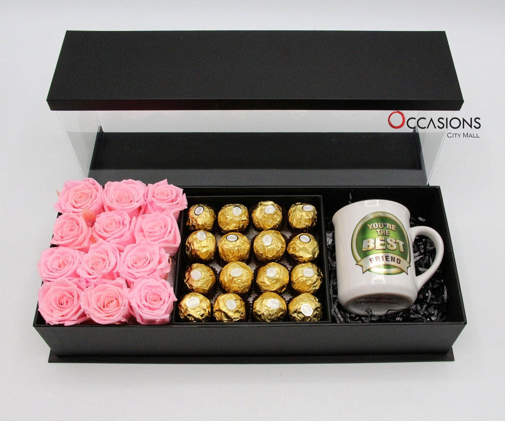 Best Friend Special Pink Package Flowerssend_delivery_Amman_Jordan