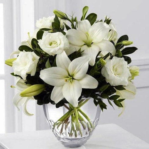 White Roses & Lily - Gifts Online