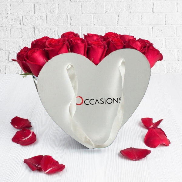 Heart Rose Basket