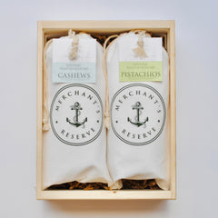 Merchant's Reserve Cargo Bag customize gift set in handmade crate