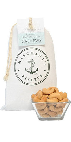 Merchant's Reserve's 1 lb. Cargo Bag of Jumbo Roasted & Salted Cashews with product detail
