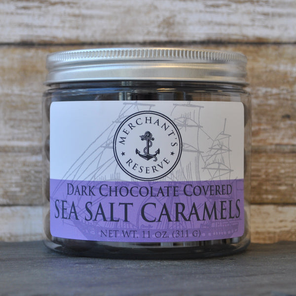 Merchant's Reserve Dark Chocolate Sea Salt Caramels 11 oz. Jar