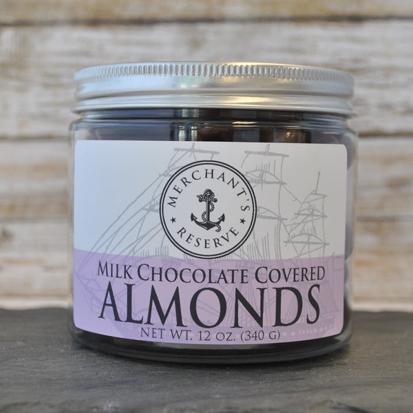 Merchant's Reserve Milk Chocolate Covered Almonds 12 oz. Jar