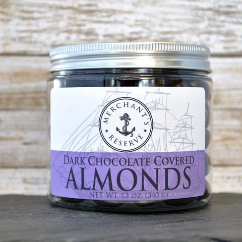 Merchant's Reserve Dark Chocolate Covered Almonds 12 oz. Jar