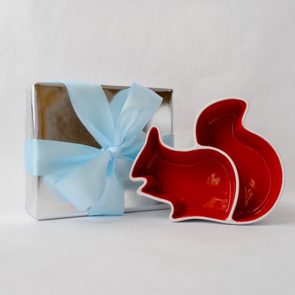 Merchants Reserve Squirrel Divided Snack Dish Gift Wrapped
