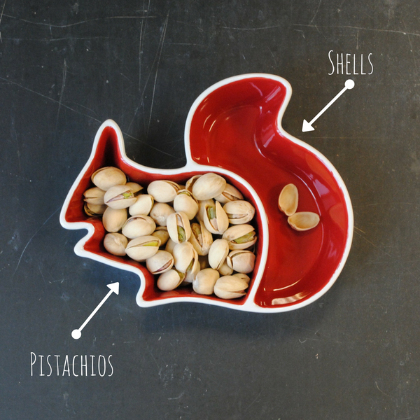 Merchants Reserve Squirrel Divided Snack Dish with Pistachios