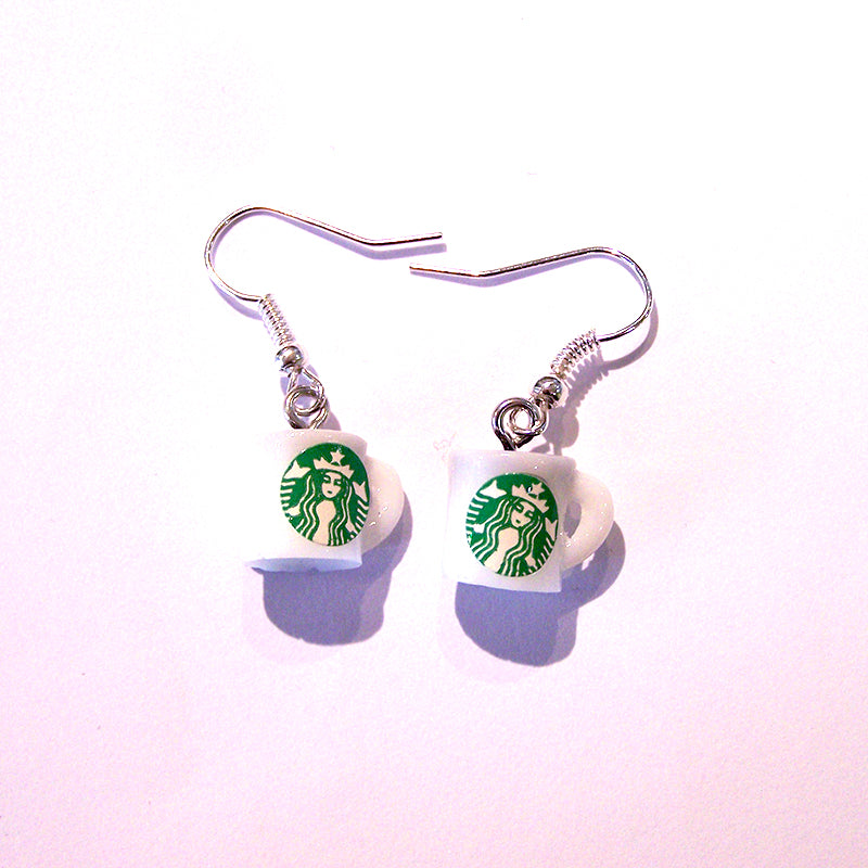 Mini Coffee Mug Earrings