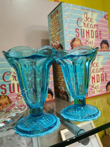 Ice Cream Sundae Glasses - Set of 2