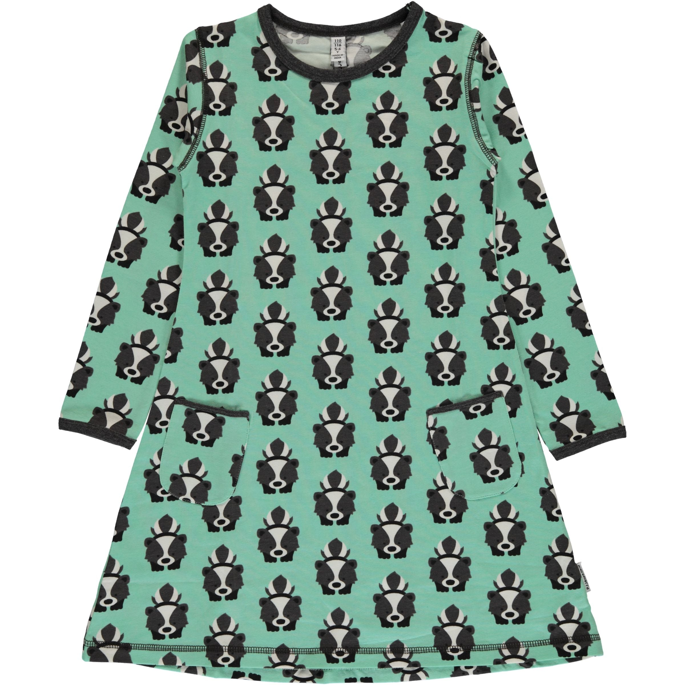 Skunk Long Sleeved Dress ~ Maxomorra