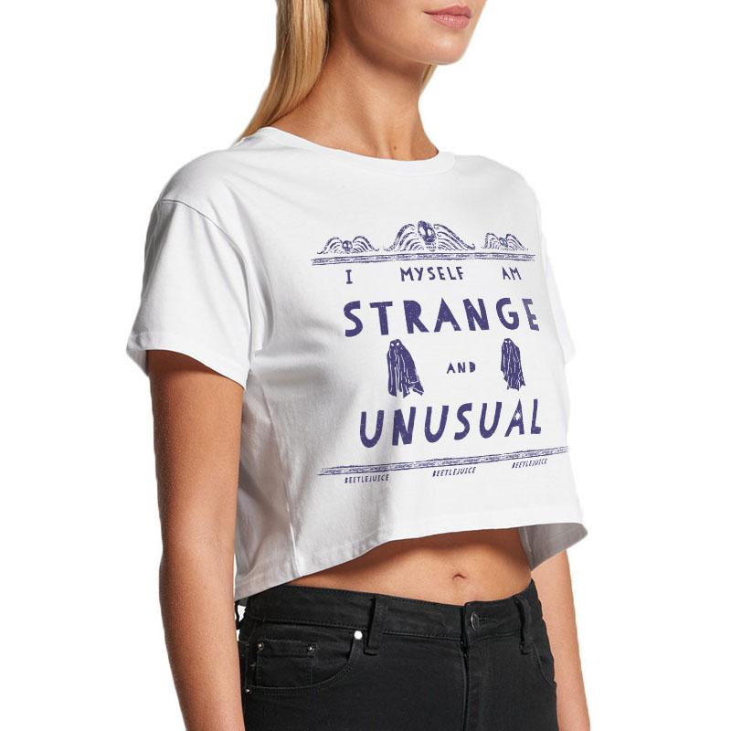 Strange And Unusual Ladies Crop T-shirt (Beetlejuice)