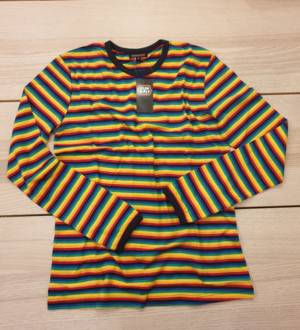 Long Sleeved Rainbow Brights Striped T-Shirt - Run & Fly