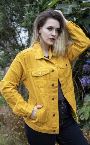 Retro Vintage Gold Cord Unisex Western Jacket ~ Run & Fly