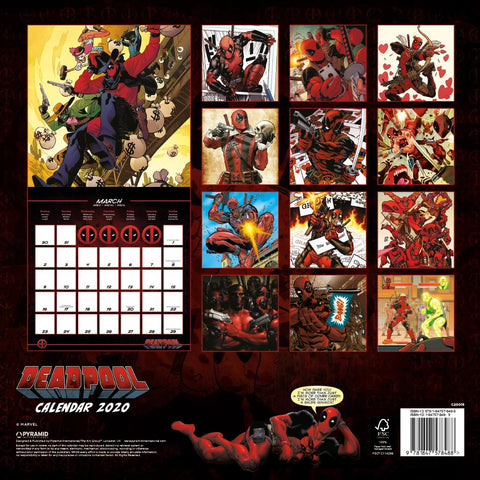Deadpool 2020 Calendar (Marvel)