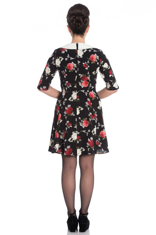 Selma Mini Floral 3/4 Sleeve Mini Dress ~ Hell Bunny