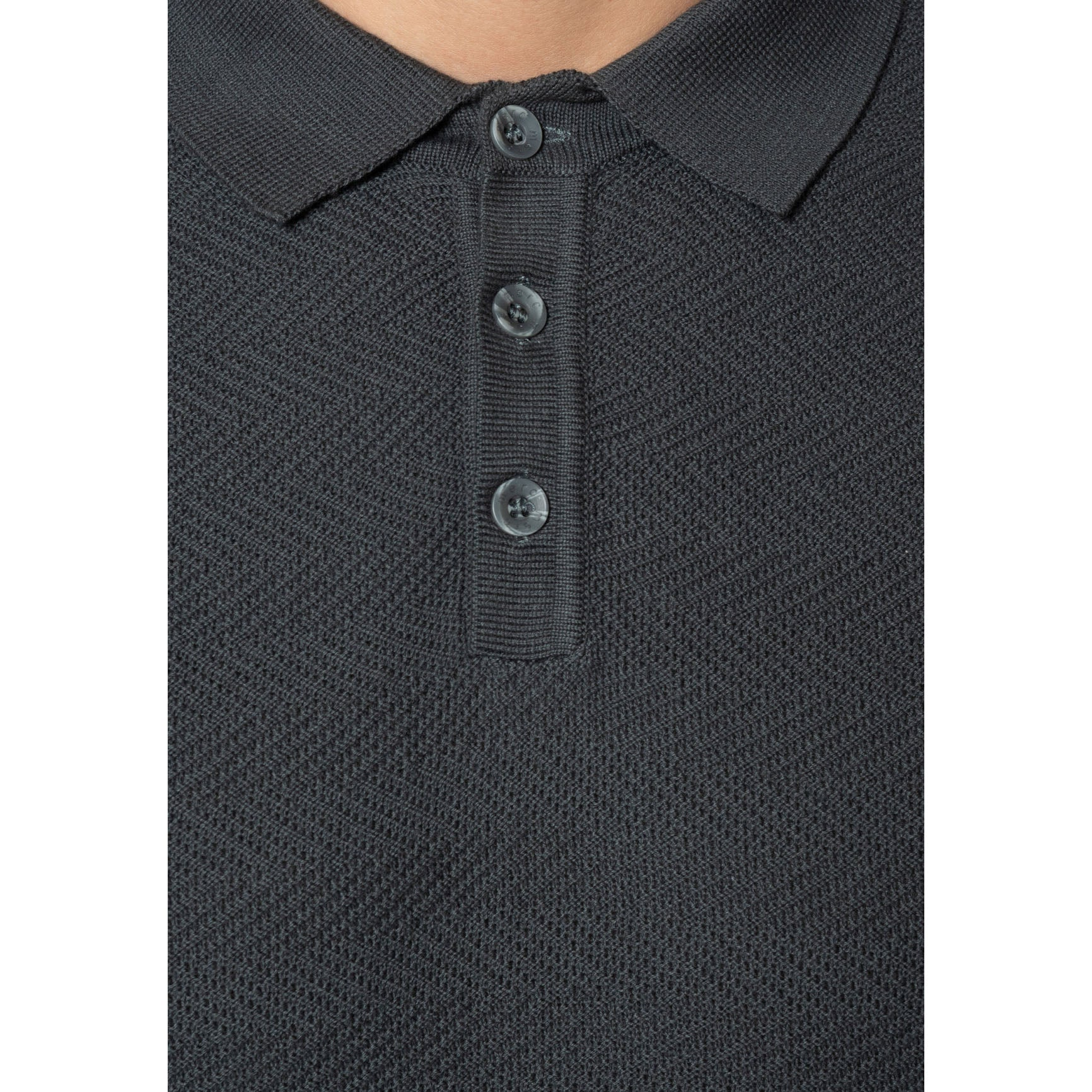Clive Knitted Polo - Merc