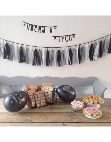 DIY Tassel Garland [Black]  ~ A Little Lovely Company