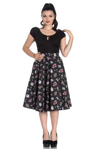 Stevie Tattoo 50's Skirt ~ Hell Bunny