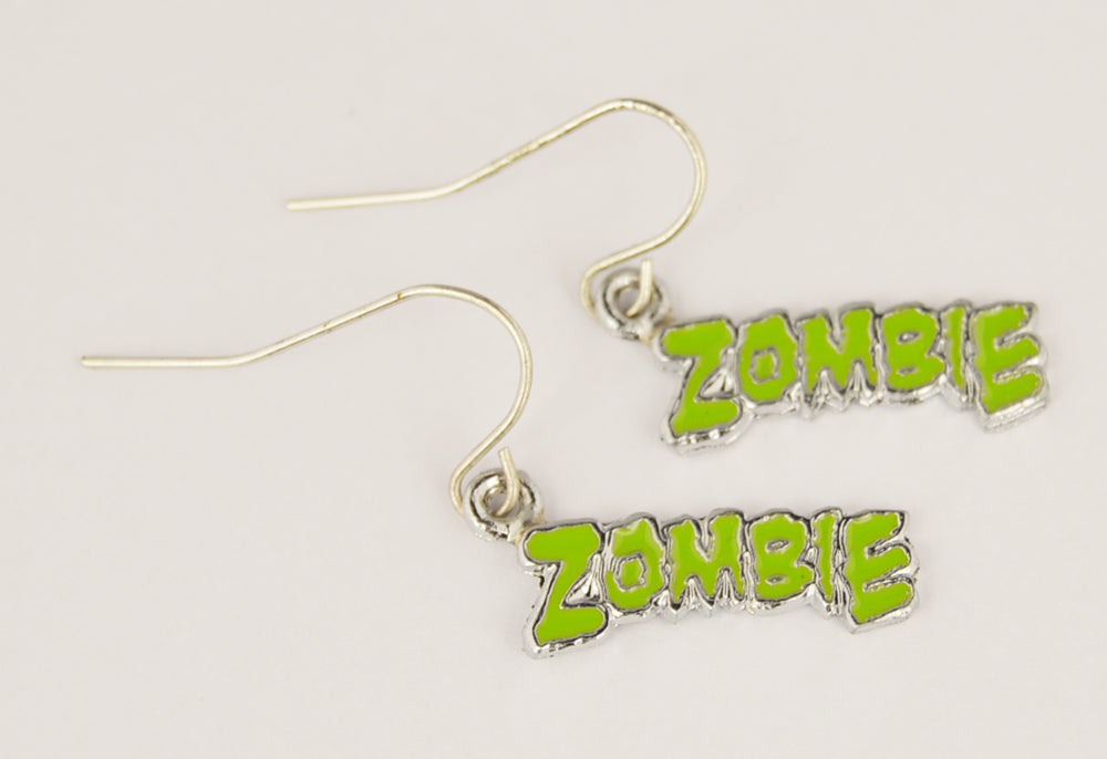 Green Zombie Earrings