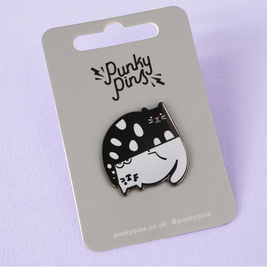 Ying and Yang Cats Enamel Pin  ~ Punky Pins
