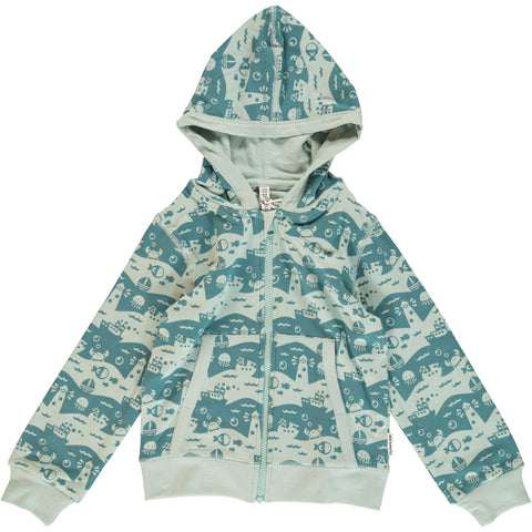 Ocean Landscape Hooded Cardigan ~ Maxomorra