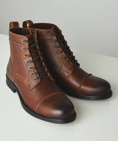 Oiled Top Stitch Boots ~ Joe Browns