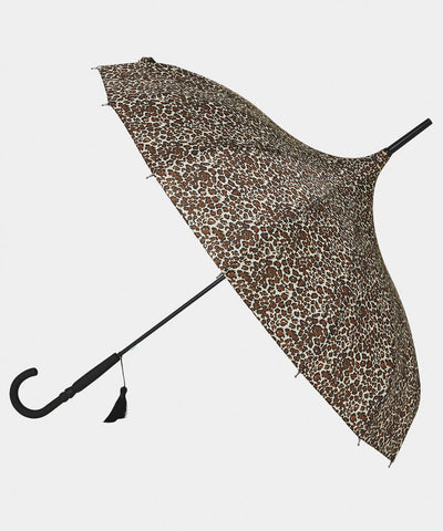 Leopard Pagoda Luxury Umbrella ~ Joe Browns
