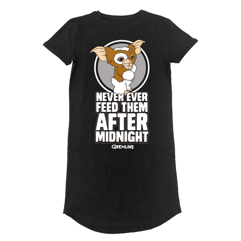 Gizmo - Don't Feed After Midnight - T-shirt Dress (Gremlins / Eighties)