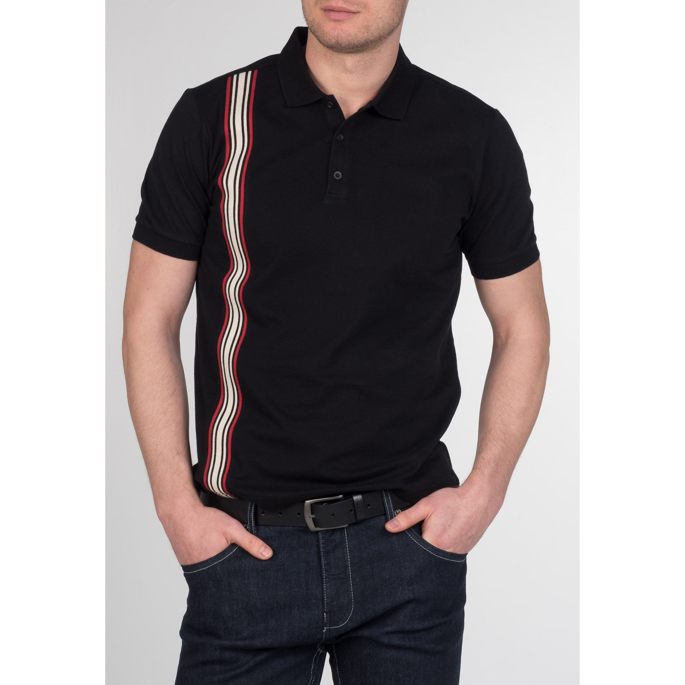 Goldhawk Stripe Polo - Merc