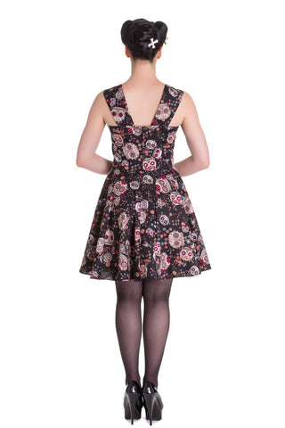 Idaho Black Sugar Skull Dress ~ Hell Bunny