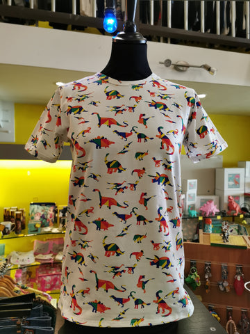 Rainbow Dinosaur T-Shirt ~ Run & Fly
