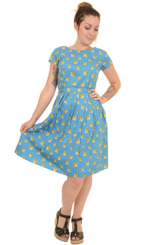 Kitsch Polka Dot Kitty Tea Party Dress ~ Run & Fly