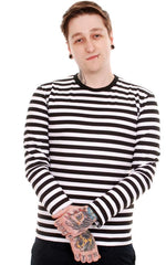 Black & White Stripe Long Sleeve T-Shirt ~ Run & Fly