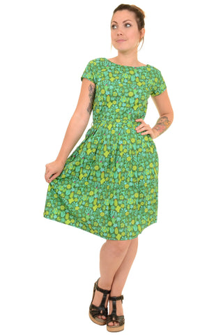 Green Blooming Cactus Tea Party Dress ~ Run & Fly