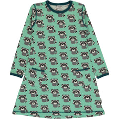 Raccoon Long Sleeved Dress ~ Maxomorra