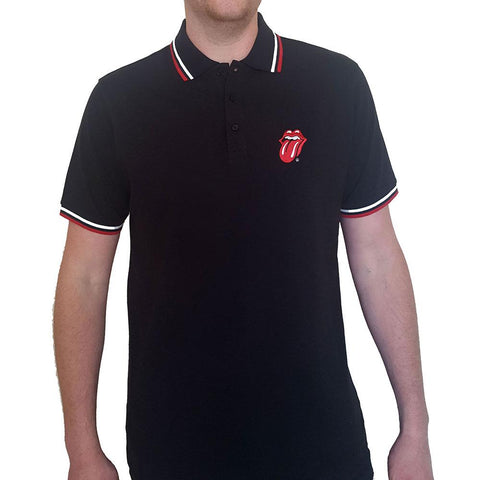 Rolling Stones Unisex Polo Shirt: Classic Tongue Logo (Music)